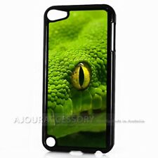 ( For iPod Touch 6 ) Back Case Cover AJ10244 Green Snake
