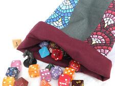 Striped DICE BAG — for Game Parts, Yarn, Toys, Mementos, Letter Tiles — (Bag J)