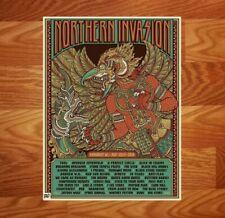 Northern Invasion Concert Print Artist Proof Gig Poster Tool Avenged Sevenfold