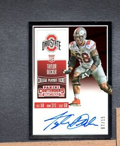 2016 Contenders Draft Playoff Ticket #233 Taylor Decker Autograph 7/15 A01 192