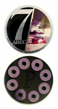 Penny Skateboard Bearings New Abec 7 High End Purple Shields Spacers