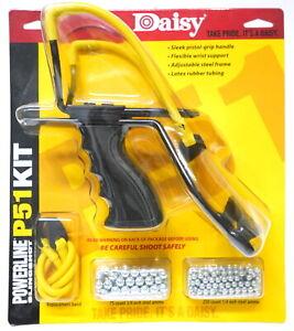Daisy 988153442 P51 Slingshot Kit Model 8153 Yellow Black 8 Inch