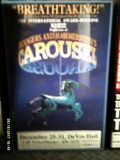 ROGERS & HAMMERSTEIN'S CAROUSEL Play Card Autographed by 30 Devos Hall