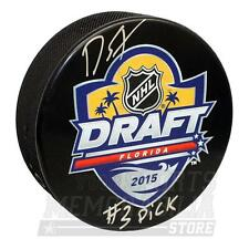 Dylan Strome Arizona Coyotes Signed Autographed 2015 #3 Pick Draft Puck A