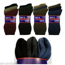 3 Pairs of Kids Childrens Boys Girls THERMAL SOCKS Warm Winter Soft Sizes 9 to 4