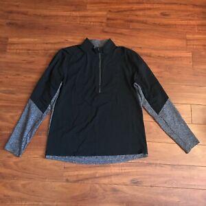 LULULEMON Men's Surge Warm Shield 1/2 Zip Pullover Size XL Black Gray EUC