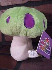 Green & Purple Magical MUSHROOM 6'' Plush Stuffed Toy w/ Tag NEW