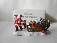 "Vintage Dept. 56 Snow Village Series ""Santa Comes To Town, 1996"""