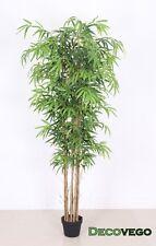 Bambù Pianta Albero Artificiale con Legno Naturale 180cm Decovego