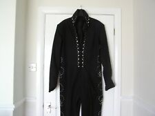 "ELVIS BLACK LUCKY JUMPSUIT NEW WITH HOME MADE BELT 46"" CHEST"