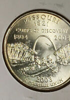2003 P Missouri quarter *strike through Lamination Error* ?  MS Uncirculated
