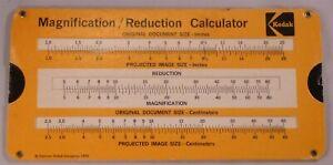 Vintage Kodak Magnification Reduction Calculator Slide Rule # P-250 1972