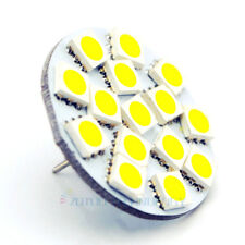 4x G4 Back Pins 15LEDs White 6000K replace 30W Halogen Bulbs 12-24V boat lamps