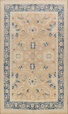 Floral Authentic Oushak Turkish Area Rug Hand-knotted Vegetable Dye Carpet 9x12