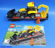 LEGO® City / Eisenbahn 60098 Tieflader- Waggon  Güterwaggon  Transportwaggon
