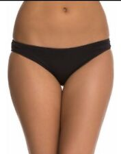 SEAFOLLY Mini Hipster Swimsuit Bikini Bottoms Classic Black US 6 Small NEW NWT
