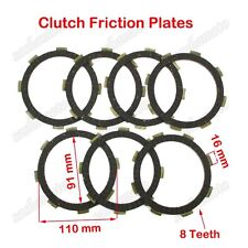 Clutch Friction Plates YX ZS Lifan CG CB 200cc 250cc Engine Dirt Motor Bike ATV