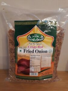 Fried Onion Crispy Red Ready to use for Cooking & Garnishing Alnoor 400g