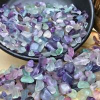 1/2LB Natural Fluorite Quartz Crystal Healing Stone Specimen Gravel Tumbled 230g