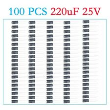 E-Projects - 220uF 25V 105c Radial Electrolytic Capacitor (100 Pcs)
