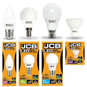 JCB Household LED Lamp Range (Candles/Golfballs/GLS/GU10) - 3000k & 6500k
