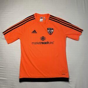 Adidas Youth XL Climalite Soccer Short Sleeve Shirt Orange GPS Marketreach Inc.