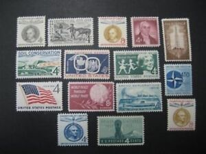 US 1959 Commemorative Year Set with 15 Stamps MNH