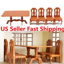 Table Plastic Miniature Doll House Furniture Set Living Room Kitchen  Decoration