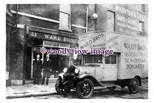 pu1443 - Ward Bros Shiop & Van , Waterdale , Doncaster , Yorkshire - postcard