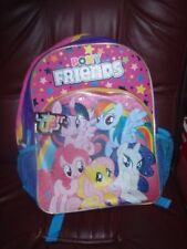 "My Little Pony School Backpack 17""  Book Bag -PONY FRIENDS NEW W/TAGS"