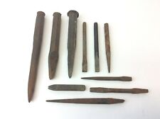 Mixed Vintage Lot Used Rock Carpentry Chisels Punches Estate Tools
