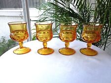 "USED 6 VICTORIAN CHRISTMAS INDIANA GLASSWARE 16 oz 5 3//4/""H MADE IN USA"