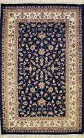 Rugstc 3x5 Pak Persian Blue Area Rug, Hand-Knotted,Floral with Silk/Wool Pile