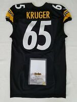 #65 Kruger of Pittsburgh Steelers NFL Locker Room Game Used Jersey
