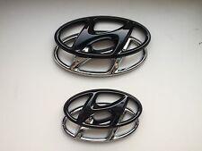 Hyundai Tucson TLE Badge Cover SET highglos Black Emblem hochglanz schwarz