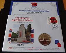 2011 B/U JERSEY £5 POPPY COIN PNC + COA 90th ANN BRITISH LEGION REMEMBRANCE
