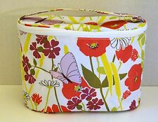 Clinique Spring Floral Butterfly Train Case Cosmetic Make up Bag NEW