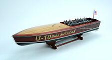 "Gar Wood Miss America X 32"" - Handmade Wooden Model Racing Boat Model"