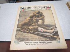 LE PETIT JOURNAL SUPPLEMENT ILLUSTRE N° 1429 1918 LA PREMIERE PENSEE DU SOLDAT *