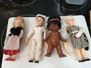 Vintage dolls 19cm as is .