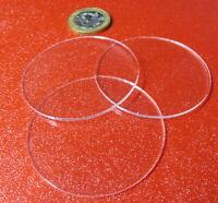 "1/16"" Thick x 2.0"" Diameter Acrylic Circle Disc Clear 10 Pcs"