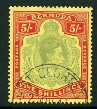 Bermuda 1938-53 George VI Keyplate 5/- SG118a FU