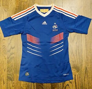 Vintage Authentic Adidas France Woman Home Soccer Jersey 2010