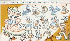 International Kittens & Puppies for Childrens clothing 102 iron on embroidery
