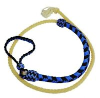 Showman BLUE 4 1/2' Braided Nylon Over & Under Whip w/ Lasso End! NEW HORSE TACK