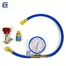 R134a R22 R410a R404a Refrigerant Charging Hose with Gauge Recharge Measuring To