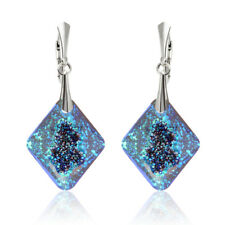 Sterling Silver Earrings Hooks made with 6926 26mm Rhombus Swarovski® Crystals