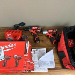 Milwaukee 2494-22 M12 Li-Ion 2-Tool Combo Kit (1.5 Ah) - Unused
