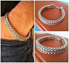 Bracciale da uomo catena maglia 12mm in Acciaio 316L - Colore Argento