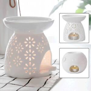 Ceramic Cut-Out Oil Burner Wax Melt Burner Aromatherapy Fragrance Diffuser UK